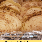 Baked Cabbage and Onions Pinterest pin