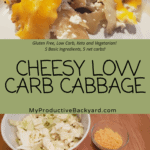 Cheesy Low Carb Cabbage Pinterest pin