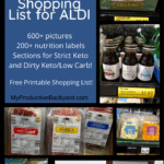 The Biggest Best Low Carb Keto Shopping List for ALDI Pinterest Pin