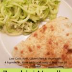 Zucchini Noodles Parmesan Pinterest Pin