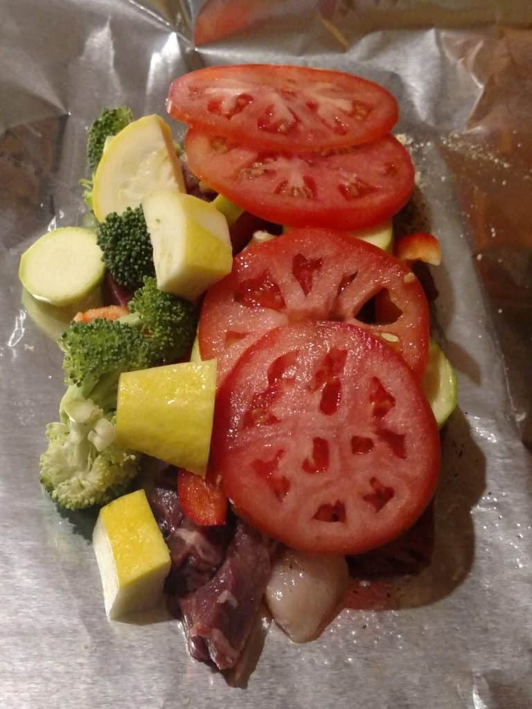 Keto Meat and Vegetable Foil Packets