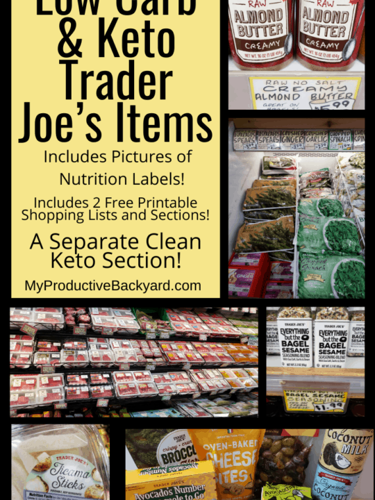 Low Carb Keto Trader Joe's Items Pinterest Pin
