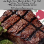 Marinated Steaks Freezer Meal Pinterest pin