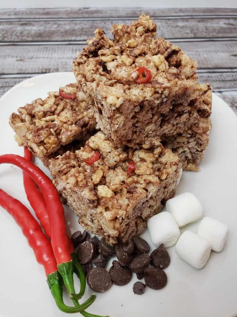 Chocolate Cayenne Rice Krispy Treats