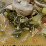 Healthy Pork Curry Vegetable Soup Pinterest Pin
