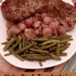 Keto Pork Tenderloin with Radishes Pinterest Pin
