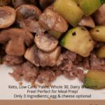 Keto Sausage Vegetable Breakfast Bowl Pinterest Pin
